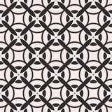 Vector monochrome seamless pattern, repeat mosaic texture Stock Image