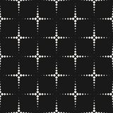 Vector monochrome seamless pattern, texture with dotted shapes. vector illustration
