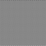 Vector monochrome seamless pattern, simple wavy lines Stock Image