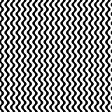 Vector monochrome seamless pattern, simple wavy lines. Vector seamless pattern, vertical wavy lines, smooth bends. Simple monochrome black & white texture Stock Photos