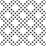 Vector monochrome seamless pattern, small crosses Stock Images