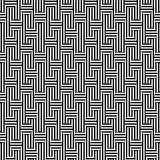 Vector monochrome seamless pattern, striped illusion. Vector monochrome seamless pattern. Black & white striped texture. Visual illusion effect, horizontal and Royalty Free Stock Photography