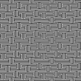 Vector monochrome seamless pattern, striped illusion. Vector monochrome seamless pattern. Black & white striped texture. Visual illusion effect, horizontal & Stock Photography