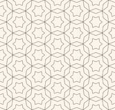 Subtle ornament texture. Oriental seamless pattern with star. Vector monochrome seamless pattern, subtle ornamental background in oriental style, thin lines Royalty Free Stock Images