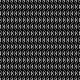 Vector monochrome seamless pattern, waves Royalty Free Stock Photo