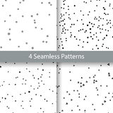 Vector Monochrome Seamless Patterns Collection Stock Photography