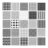 Vector monochrome seamless patterns Stock Images