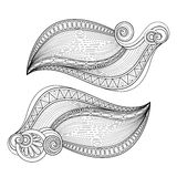 Vector Monochrome Set of Decorative Elements in Doodle Style Royalty Free Stock Photos