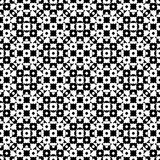 Vector monochrome specular geometric pattern. Vector monochrome seamless texture, black & white specular geometric pattern with simple rounded figures. Repeat Royalty Free Stock Images