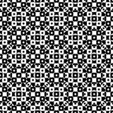 Vector monochrome specular geometric pattern. Vector monochrome seamless texture, black & white specular geometric pattern with simple rounded figures. Repeat Stock Images