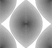 Vector monochrome stripy endless pattern, art continuous geometr Royalty Free Stock Photo