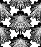 Vector monochrome stripy endless pattern, art continuous geometr Stock Photos
