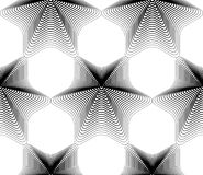 Vector monochrome stripy endless pattern, art continuous geometr Royalty Free Stock Photos