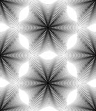 Vector monochrome stripy endless pattern, art continuous geometr Stock Photography