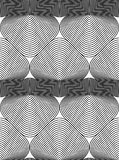 Vector monochrome stripy endless pattern, art continuous geometr Stock Photo