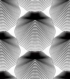 Vector monochrome stripy endless pattern, art continuous geometr Royalty Free Stock Photography