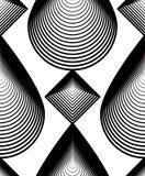 Vector monochrome stripy endless pattern, art continuous geometr Stock Photos