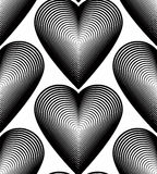 Vector monochrome stripy endless pattern, art continuous geometr Stock Image
