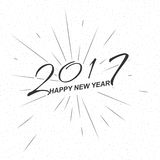 Vector monochrome text Happy New Year 2017 for greeting card, flyer, poster logo. Monochrome text Happy New Year 2017 for greeting card, flyer, poster logo with royalty free illustration