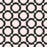 Vector monochrome texture, geometric seamless pattern with big r Royalty Free Stock Images