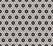 Vector monochrome texture, geometric seamless pattern with diffe Stock Photos