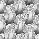 Vector Monochrome Wave Seamless Pattern Stock Photos