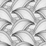 Vector Monochrome Wave Seamless Pattern Stock Photo