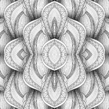 Vector Monochrome Wave Seamless Pattern Royalty Free Stock Image