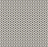 Vector monocolor seamless pattern, mosaic. Vector seamless pattern, abstract monochrome geometric ornament, black & white simple mosaic background. Repeat Stock Photos