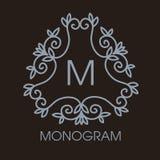 Vector monocromático del lujo, simple y elegante Fotografía de archivo libre de regalías