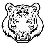 Vector monocromático principal del tigre Imagen de archivo