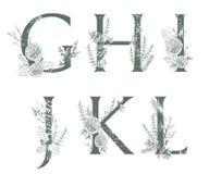 Vector monogramas ou o logotipo tirado mão das letras do Xmas G caixa, Ilustração Royalty Free