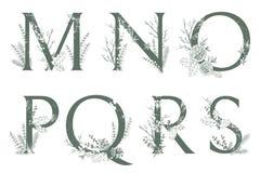 Vector monogramas ou o logotipo tirado mão das letras do Xmas M caixa, N Ilustração Royalty Free