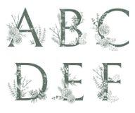 Vector monogramas ou o logotipo tirado mão das letras do Xmas Uppercase A, Ilustração do Vetor