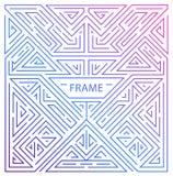 Vector Monogrammgestaltungselemente in der modischen Weinlese und in der Monolinie Art mit Raum für Text - abstrakter geometrisch stock abbildung