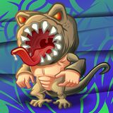 Vector monster on background. vector illustration