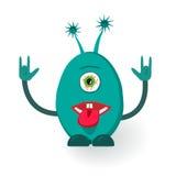 Vector Monster. Giving the devil horns gesture Stock Photo