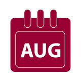 Vector month on calender. August. vector month on calender Royalty Free Stock Image
