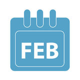 Vector month on calender. February. vector month on calender Royalty Free Stock Images