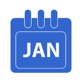 Vector month on calender. January.  month on calender Royalty Free Stock Photography