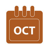 Vector month on calender Royalty Free Stock Photo