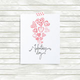 Vector mood board template, valentines day quote Royalty Free Stock Image