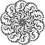 Vector Mooi Deco Zwarte Mandala Stock Afbeelding