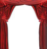 Vector Mooi Rood Gordijn royalty-vrije illustratie