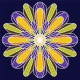 Vector mooie bloem Bloemen ontwerpelement Uitstekende ronde of Stock Foto