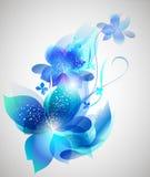 Vector mooi bloemart. als achtergrond Royalty-vrije Stock Foto's
