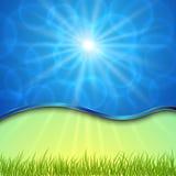 Vector mooie de lenteachtergrond met kromme Stock Fotografie
