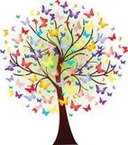 Vector mooie de lenteboom, die uit vlinders bestaan Royalty-vrije Stock Afbeelding