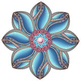Vector Mooie Deco Gekleurde contour Mandala royalty-vrije illustratie