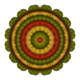 Vector Mooie Mandala In Color Stock Afbeelding